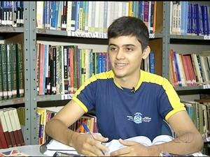 Estudante de Araguaína vai representar o Tocantins nos Estados Unidos  (Foto: Reprodução/TV Anhanguera)