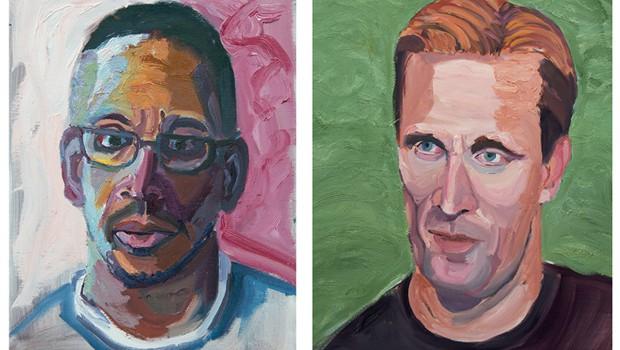 Pinturas de Bush retratam ex-militares (Foto: Divulgação)