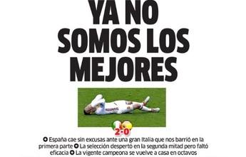 """""""Bom enquanto durou"""": quedas de Inglaterra e Espanha estampam jornais"""