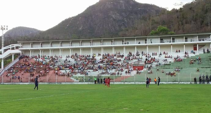 Final da Copa Espírito Santo tevfe um público pequeno (Foto: Richard Pinheiro)