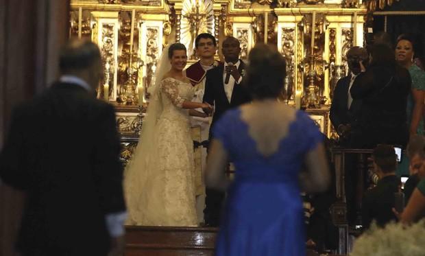 Fernanda Souza e Thiaguinho (Foto: Leo Franco / AgNews)