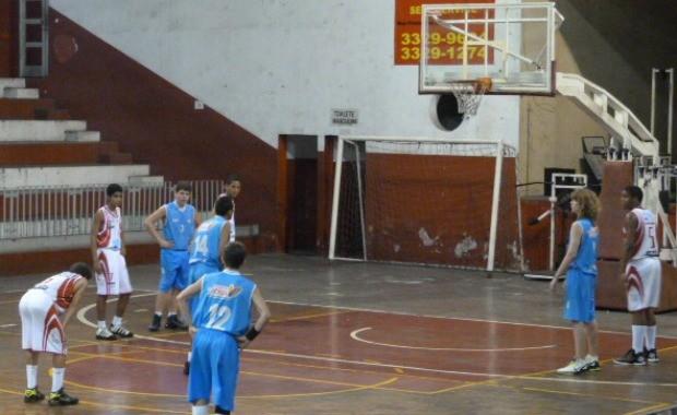 Campeonato Capixaba de basquete Sub-13: Saldanha da Gama x Vitória/Cecre (Foto: Juliana Moreira/Fecaba)