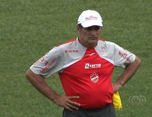 Darío Pereyra, técnico do Vila Nova (Foto: Reprodução/TV Anhanguera)