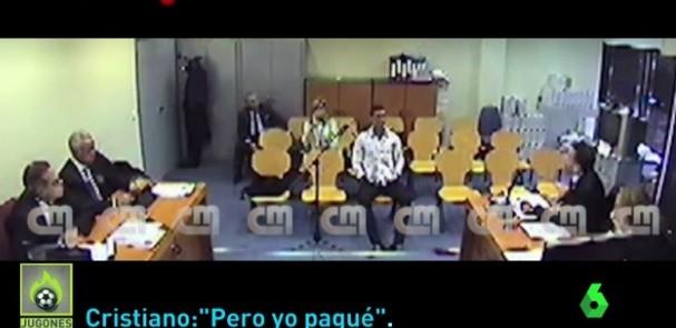 Cristiano Ronaldo em audiência fiscal na Espanha (Foto: reprodução)