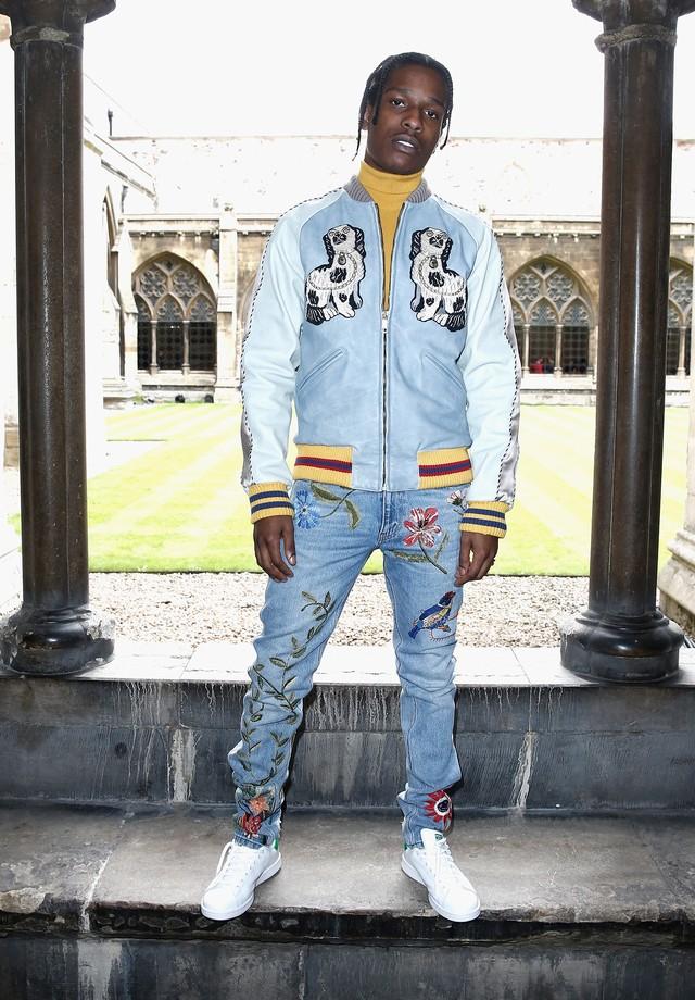 A$AP Rocky na semana de moda masculina de Paris (Foto: Getty Images)