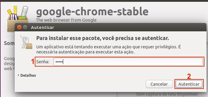 Autorizando a instalação do Google Chrome no Ubuntu (Foto: Reprodução/Edivaldo Brito) (Foto: Autorizando a instalação do Google Chrome no Ubuntu (Foto: Reprodução/Edivaldo Brito))