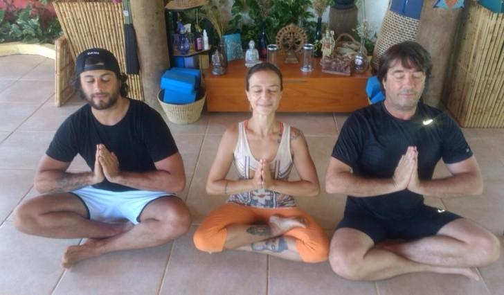 Jesus Luz, Tammy Casagrande e Paulo Fatuch em Noronha