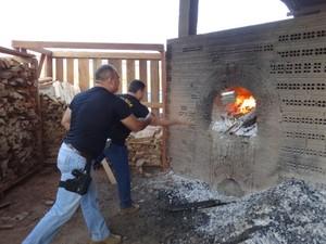 Polícia Civil fez duas grandes incinerações de drogas em Porto Velho (Foto: Arian Oliveira/Sesdec/RO)