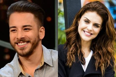 Júnior Lima e Paloma Bernardi: convite para 'Hipertensão' (Foto: TV Globo)