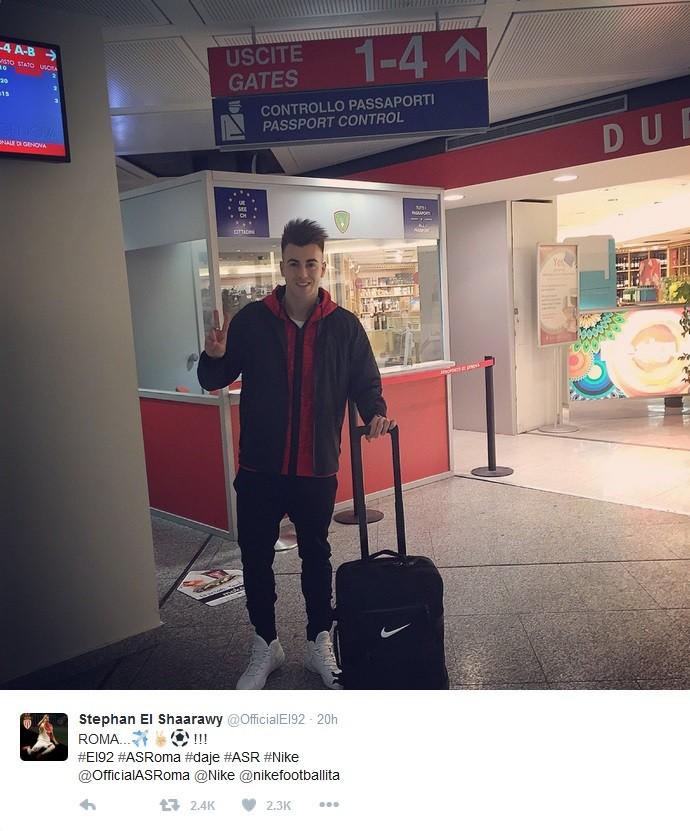 El Shaarawy, que estava no Monaco, está se transferindo para o Roma (Foto: Reprodução / Twitter)