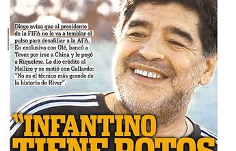 Maradona defende saída de Tevez do Boca para a China e faz alerta à AFA