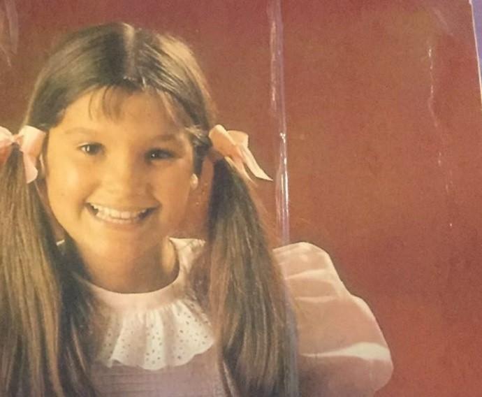 Quem vê pensa que é a Giulia, mas essa é a Flávia na infância (Foto: Arquivo Pessoal)