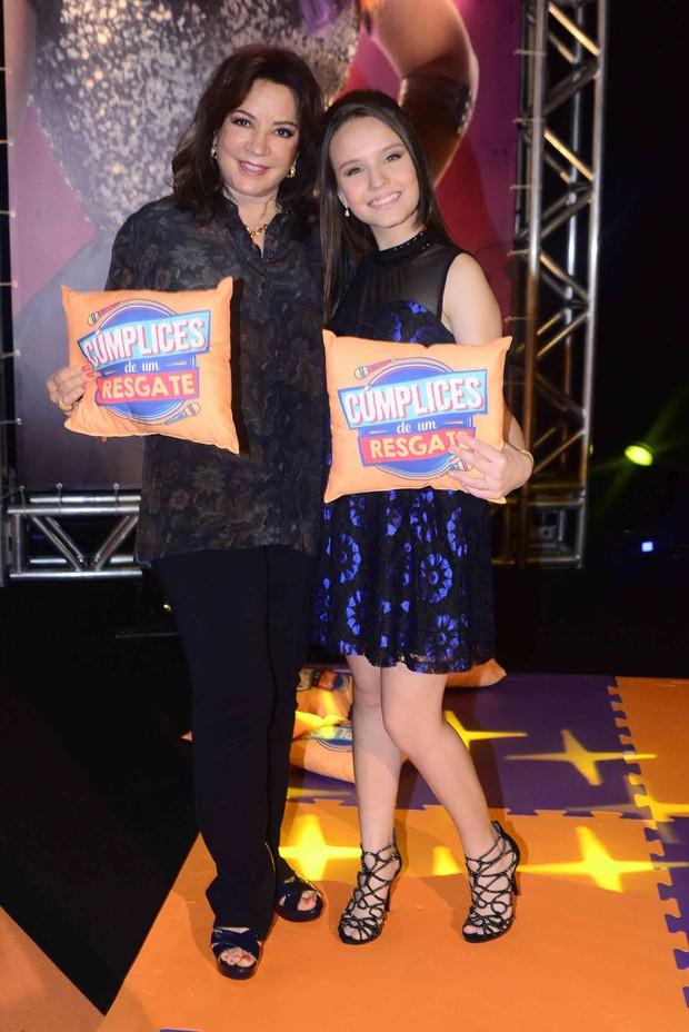 Iris Abravanel e Larissa Manoela (Foto: Leo Franco / AgNews)