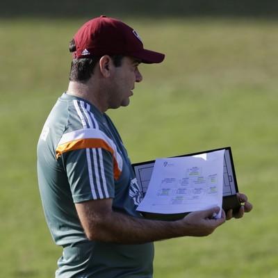 Enderson Moreira treino Fluminense Laranjeiras (Foto: Paulo Campos / Estadão Conteúdo)