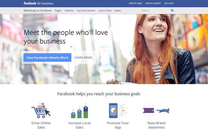 Página verdadeira do Faceboor for Business (Foto: Reprodução/Facebook)