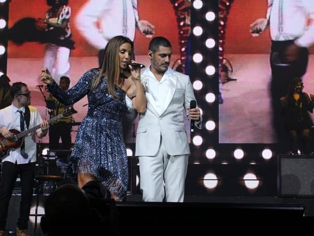 Criolo e Ivete Sangalo se apresentam no Rio (Foto: Alexander Tamargo/ Getty Images/ AFP)