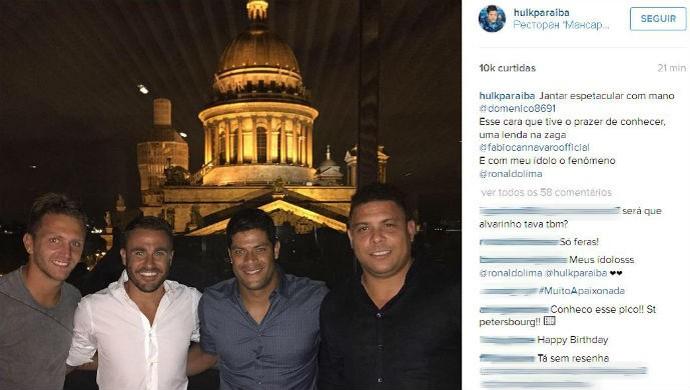 hulk, ronaldo, cannavaro, domenico, rússia (Foto: Reprodução / Instagram)