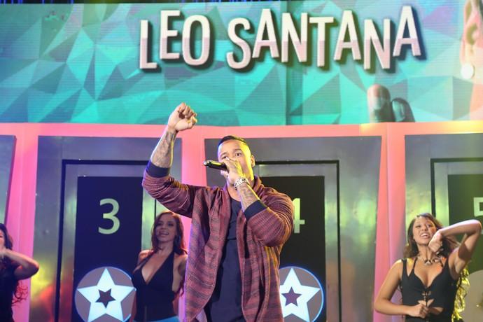 Léo Santana canta no 'Ding Dong' (Foto: Carol Caminha/Gshow)