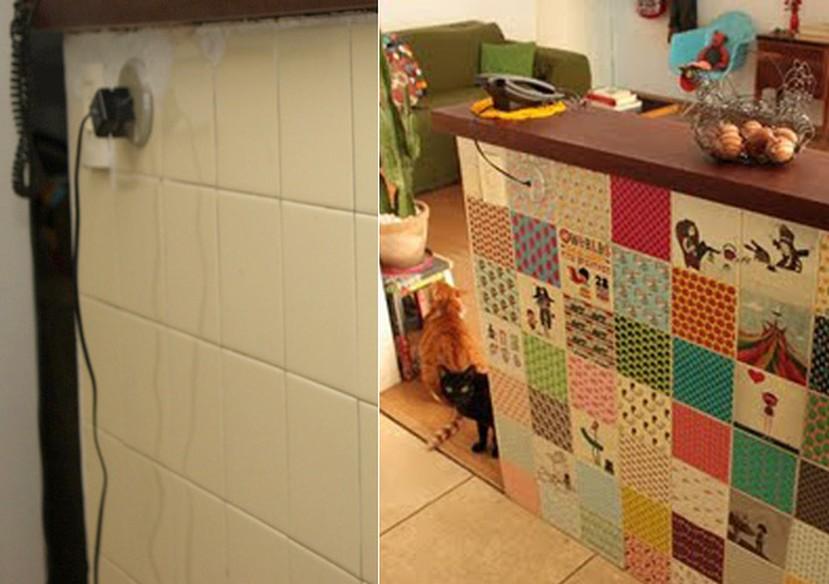 Cozinha e banheiro de cara nova use adesivos de azulejo for Nova casa azulejos
