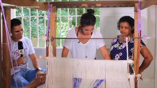Elayne Leonel vive experiência como tecelã no quadro 'Fora do Ar'