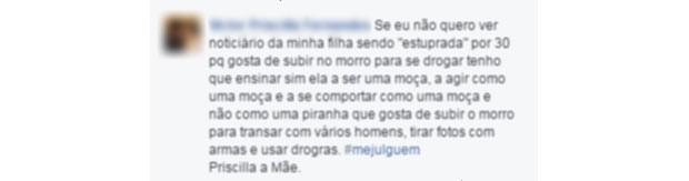 comentário machista 1 (Foto: Reprodução/ Facebook)