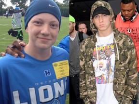 Gage Garmo e Eminem (Foto: Reprodução/ Twitter | Getty Images)