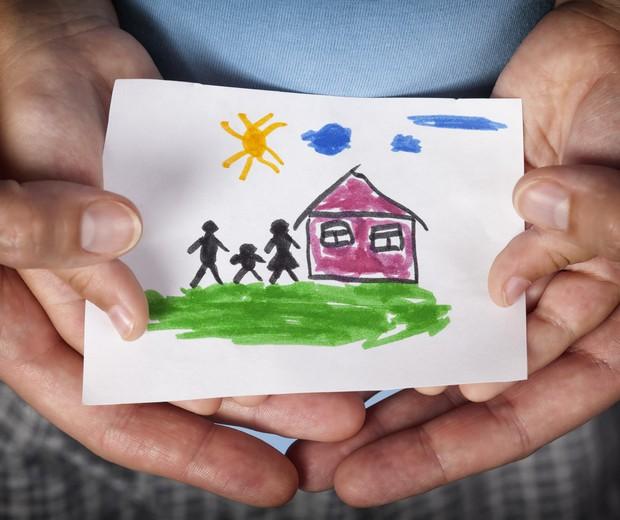 Desenho mostra o sonho de ter uma família (Foto: Thinkstock)
