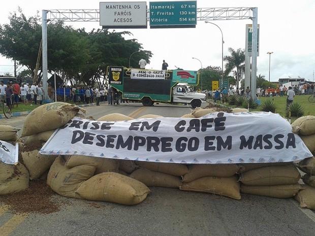 protesto br-101 (Foto: Otávio Carletti / Arquivo Pessoal)