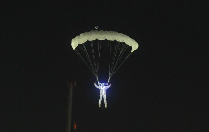 Paraquedista Portela (Foto: André Luiz Mello / Ag. Estado)