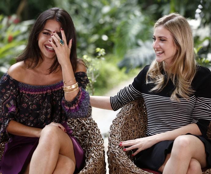 Anaju Dorigon e Hanna Romanazzi são ou não umas LINDAS?  (Foto: Inacio Moraes / Gshow)
