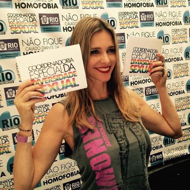 Fernanda Lima em evento no Centro do Rio (Foto: Instagram/ Reprodução)