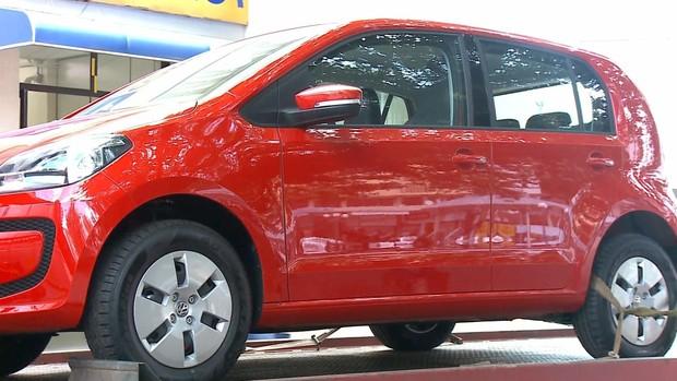 Garota Verão ganhou um carro zero quilômetro (Foto: Reprodução/RBS TV)
