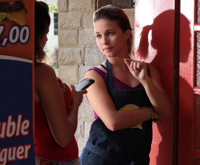 Jéssica e Nanda falam sobre mensagem de Roger (Foto: Bruno Cavalieri/Gshow)