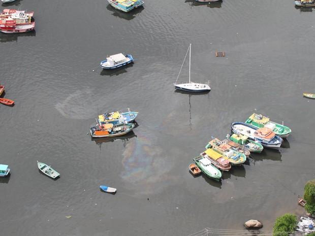 Secretaria de Ambiente determinou aplicação de maior multa possível para embarcação que vazou óleo (Foto: Mário Moscatelli/Olhoverde)