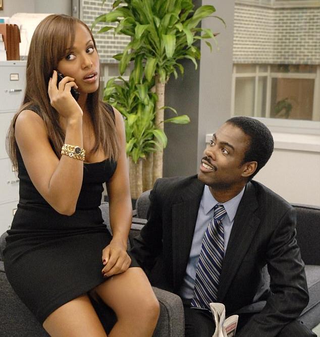 O ator Chris Rock e a atriz Kerry Washington em cena de Acho que Amo a Minha Mulher (2007) (Foto: Reprodução)