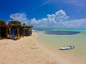 Ilha também tem opções de praias tranquilas.  (Foto: Clécio Mayrink / VC no G1)