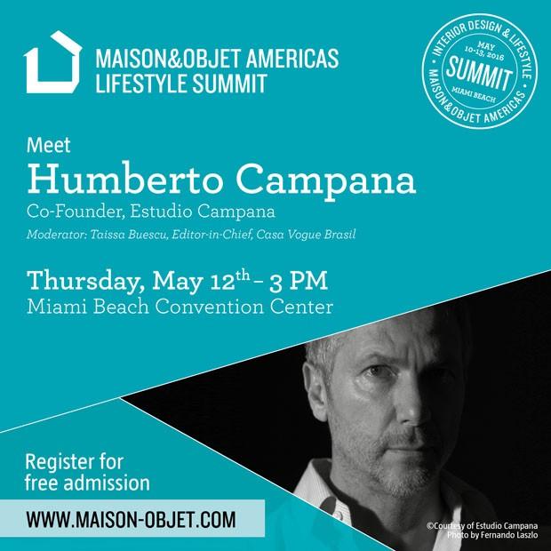 Humberto Campana na Maison&Objet (Foto: Divulgação)