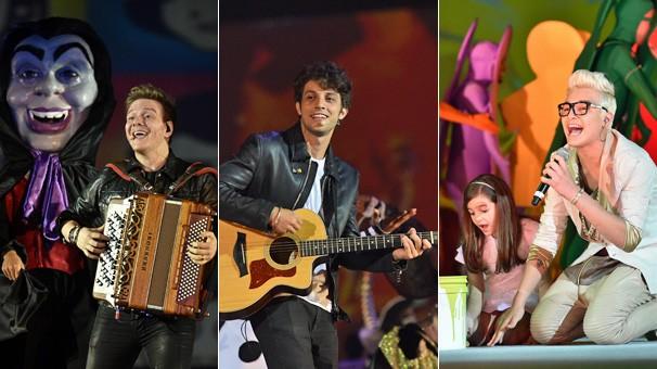 Michel Teló, Chay Suede e MC Gui estão entre os cantores que prestam homenagem aos 50 anos da Globo (Foto: Globo)