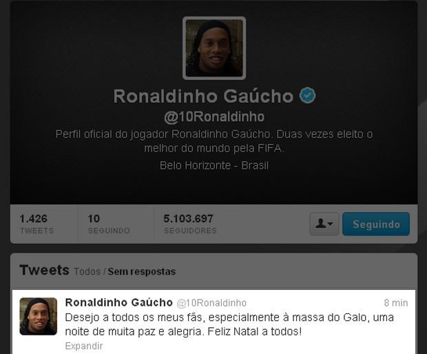 Ronaldinho Gaúcho twitter (Foto: Reprodução / Twitter)