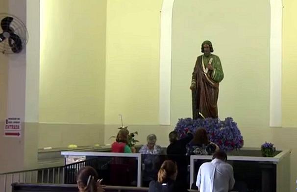 Paróquia de São Judas Tadeu no Marapé, Santos (Foto: Reprodução/TV Tribuna)