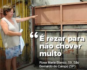 Rosa Maria Blanco, 59 anos, moradora do Jardim Orlandina, em São Bernardo do Campo (SP) (Foto: Rosanne D'Agostino/G1)