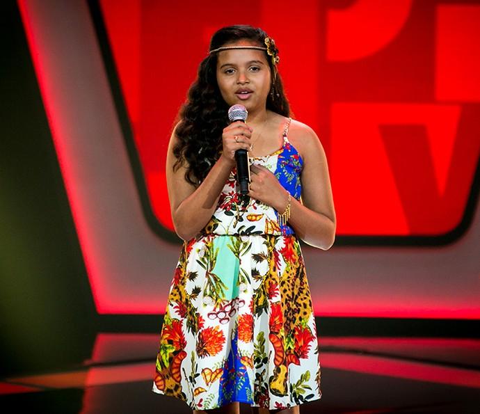 Júlia Ferreira canta Cicatriz no The Voice Kids (Foto: Isabella Pinheiro/Gshow)