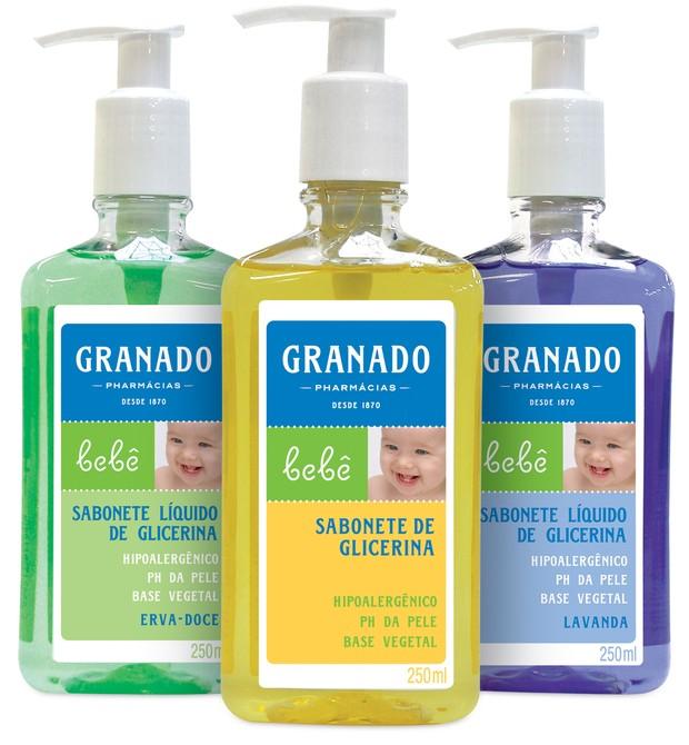 Sabonete Líquido Granado: com pH idêntico ao da pele da criança (Foto: Divulgação)