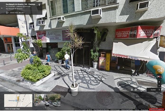 Prédio localizado no Google Street View (Foto: Reprodução/Raquel Freire)
