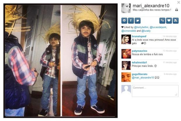 Záion, filho de Mari Alexandre e Fábio Jr. (Foto: Instagram/ Reprodução)