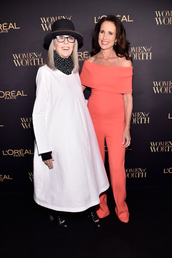 As atrizes Diane Keaton e Andie MacDowell (Foto: Getty Images)
