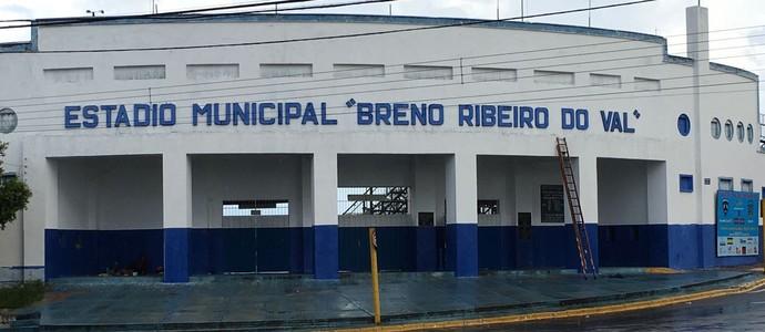 Estádio Brenão, Osvaldo Cruz (Foto: Murilo Rincon / GloboEsporte.com)