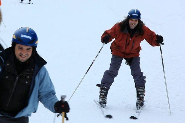 Renato Borghetti esquiando na Áustria  (Foto: Divulgação RBS TV)