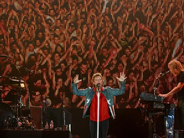 O show do Bon Jovi encerra as apresentações do Palco Mundo no quinto dia de festival. (Foto: Flavio Moraes/G1)