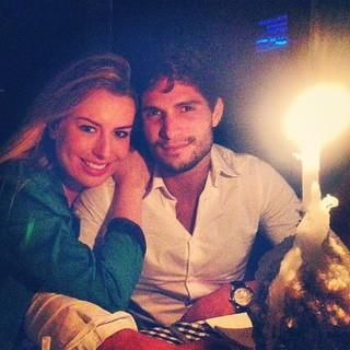 Fernanda e André juntinhos no fim de domingo (Foto: Reprodução/Instagram)